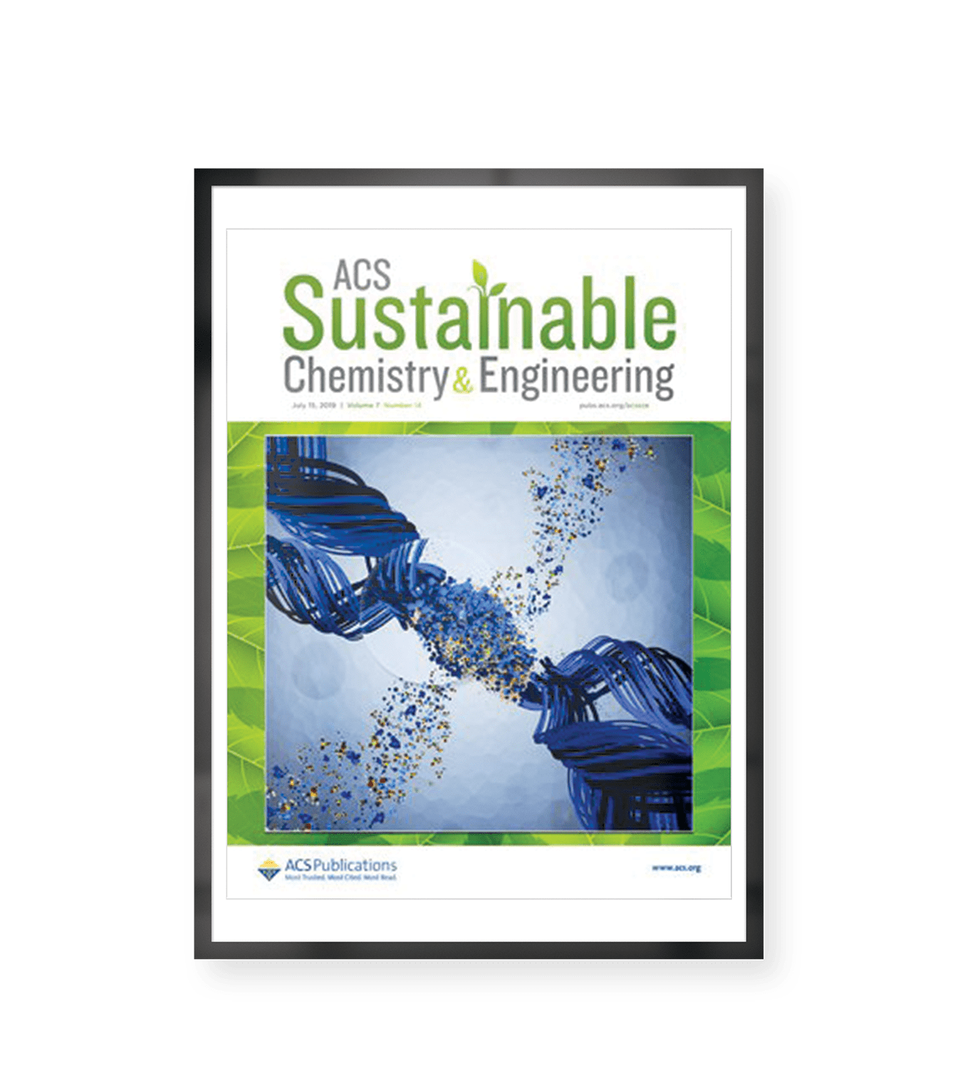 Front Cover Image of ACS Journal of Sustainable Chemistry and Engineering representing the research of Dr. Nolene Byrne et al: