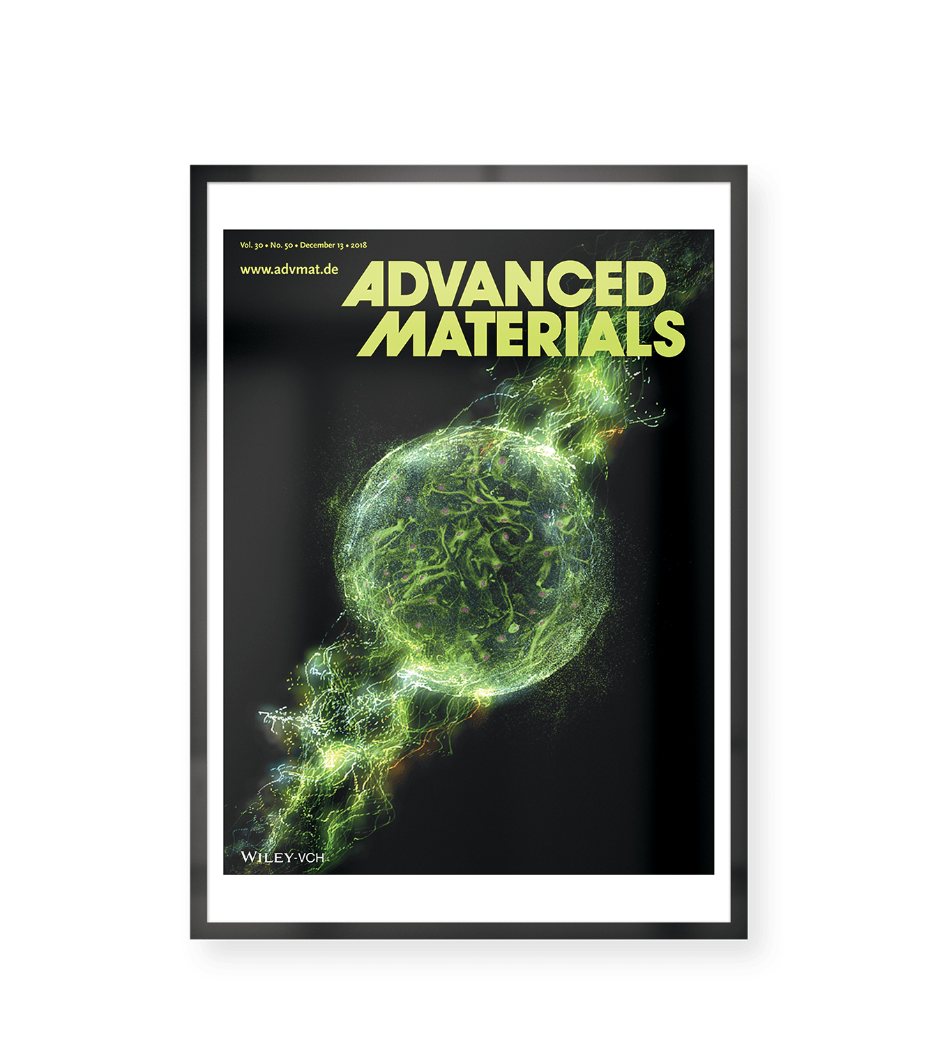Front Cover Image of Advanced Materials representing the research of Dr Richard Williams et al: